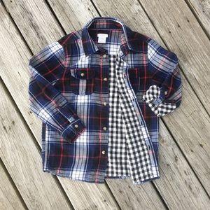 Joe Fresh Boys Red Blue Plaid Flannel Shirt